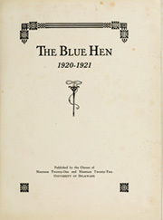 Page 5, 1922 Edition, University of Delaware - Blue Hen Yearbook (Newark, DE) online yearbook collection