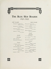 Page 9, 1922 Edition, University of Delaware - Blue Hen Yearbook (Newark, DE) online yearbook collection