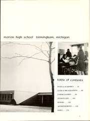 Page 7, 1972 Edition, Marian High School - Marian Way Yearbook (Birmingham, MI) online yearbook collection