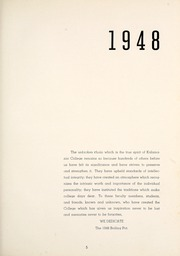 Page 9, 1948 Edition, Kalamazoo College - Boiling Pot Yearbook (Kalamazoo, MI) online yearbook collection