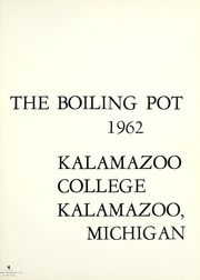 Page 5, 1962 Edition, Kalamazoo College - Boiling Pot Yearbook (Kalamazoo, MI) online yearbook collection
