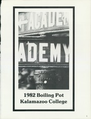 Page 5, 1982 Edition, Kalamazoo College - Boiling Pot Yearbook (Kalamazoo, MI) online yearbook collection
