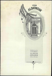 Page 9, 1924 Edition, Albion College - Albionian Yearbook (Albion, MI) online yearbook collection