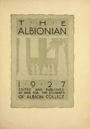 Page 9, 1927 Edition, Albion College - Albionian Yearbook (Albion, MI) online yearbook collection