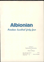 Page 9, 1944 Edition, Albion College - Albionian Yearbook (Albion, MI) online yearbook collection