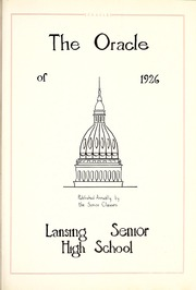 Page 9, 1926 Edition, Lansing Central High School - Oracle Yearbook (Lansing, MI) online yearbook collection