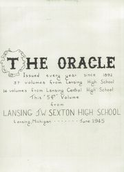Page 9, 1945 Edition, Lansing Central High School - Oracle Yearbook (Lansing, MI) online yearbook collection