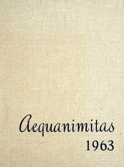 Page 1, 1963 Edition, University of Michigan Medical and Nursing School - Aequanimitas Yearbook (Ann Arbor, MI) online yearbook collection
