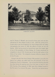 Page 14, 1938 Edition, Alma College - Scotsman Yearbook (Alma, MI) online yearbook collection