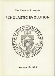 Page 5, 1958 Edition, Aquinas College - Thomist Yearbook (Grand Rapids, MI) online yearbook collection