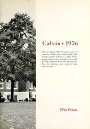 Page 7, 1956 Edition, Calvin College - Prism Yearbook (Grand Rapids, MI) online yearbook collection