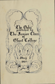 Page 2, 1907 Edition, Olivet College - Oaks Yearbook (Olivet, MI) online yearbook collection