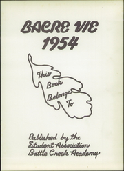 Page 5, 1954 Edition, Battle Creek Academy - Bacre Vie Yearbook (Battle Creek, MI) online yearbook collection