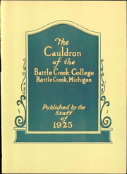 Page 11, 1925 Edition, Battle Creek College - Cauldron Yearbook (Battle Creek, MI) online yearbook collection