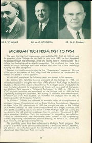 Page 15, 1954 Edition, Michigan Technological University - Keweenawan Yearbook (Houghton, MI) online yearbook collection