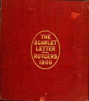 Page 1, 1900 Edition, Rutgers University - Scarlet Letter Yearbook (Newark, NJ) online yearbook collection