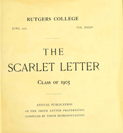 Page 8, 1905 Edition, Rutgers University - Scarlet Letter Yearbook (Newark, NJ) online yearbook collection