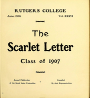Page 8, 1907 Edition, Rutgers University - Scarlet Letter Yearbook (Newark, NJ) online yearbook collection