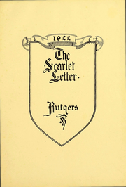 Page 4, 1922 Edition, Rutgers University - Scarlet Letter Yearbook (Newark, NJ) online yearbook collection