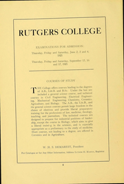 Page 7, 1922 Edition, Rutgers University - Scarlet Letter Yearbook (Newark, NJ) online yearbook collection