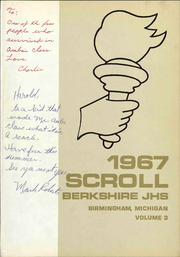 Page 7, 1967 Edition, Berkshire Middle School - Scroll Yearbook (Birmingham, MI) online yearbook collection