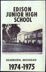 1974 Edition, Edison Junior High School - Yearbook (Dearborn, MI)