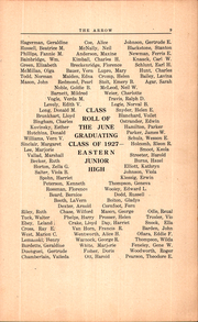 Page 15, 1927 Edition, Eastern Junior High School - Arrow Yearbook (Pontiac, MI) online yearbook collection