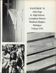 Page 7, 1976 Edition, Page Middle School - Panther Yearbook (Madison Heights, MI) online yearbook collection