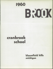 Page 5, 1960 Edition, Cranbrook School - Brook Yearbook (Bloomfield Hills, MI) online yearbook collection