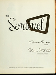 Page 7, 1951 Edition, Montana State University - Sentinel Yearbook (Missoula, MT) online yearbook collection