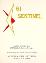 Page 5, 1961 Edition, Montana State University - Sentinel Yearbook (Missoula, MT) online yearbook collection