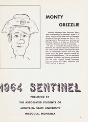 Page 5, 1964 Edition, Montana State University - Sentinel Yearbook (Missoula, MT) online yearbook collection
