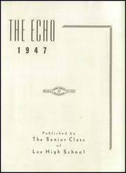 Page 7, 1947 Edition, Lee High School - Echo Yearbook (Grand Rapids, MI) online yearbook collection