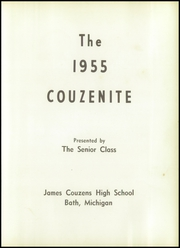 Page 5, 1955 Edition, James Couzens High School - Couzenite Yearbook (Bath, MI) online yearbook collection