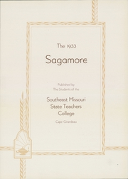 Page 7, 1933 Edition, Southeast Missouri State University - Sagamore Yearbook (Cape Girardeau, MO) online yearbook collection