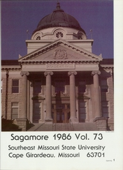Page 5, 1986 Edition, Southeast Missouri State University - Sagamore Yearbook (Cape Girardeau, MO) online yearbook collection
