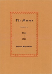 Page 7, 1927 Edition, John A Johnson High School - Maroon Yearbook (St Paul, MN) online yearbook collection