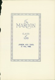 Page 5, 1928 Edition, John A Johnson High School - Maroon Yearbook (St Paul, MN) online yearbook collection