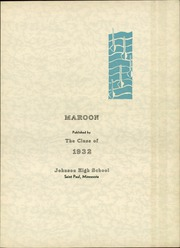 Page 7, 1932 Edition, John A Johnson High School - Maroon Yearbook (St Paul, MN) online yearbook collection