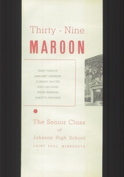 Page 7, 1939 Edition, John A Johnson High School - Maroon Yearbook (St Paul, MN) online yearbook collection