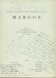 Page 5, 1945 Edition, John A Johnson High School - Maroon Yearbook (St Paul, MN) online yearbook collection