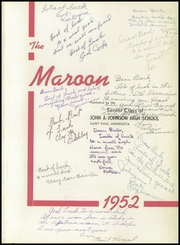 Page 5, 1952 Edition, John A Johnson High School - Maroon Yearbook (St Paul, MN) online yearbook collection