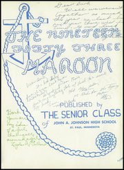 Page 5, 1953 Edition, John A Johnson High School - Maroon Yearbook (St Paul, MN) online yearbook collection