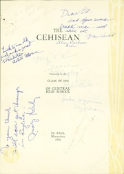Page 7, 1931 Edition, Central High School - Cehisean Yearbook (St Paul, MN) online yearbook collection