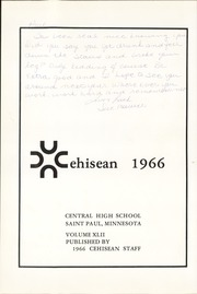 Page 5, 1966 Edition, Central High School - Cehisean Yearbook (St Paul, MN) online yearbook collection