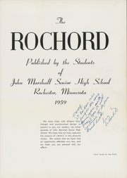 Page 5, 1959 Edition, John Marshall High School - Rochord Yearbook (Rochester, MN) online yearbook collection