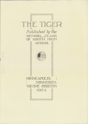 Page 7, 1924 Edition, South High School - Tiger Yearbook (Minneapolis, MN) online yearbook collection