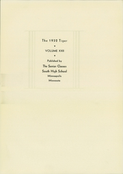 Page 7, 1932 Edition, South High School - Tiger Yearbook (Minneapolis, MN) online yearbook collection