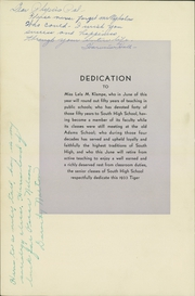 Page 8, 1933 Edition, South High School - Tiger Yearbook (Minneapolis, MN) online yearbook collection