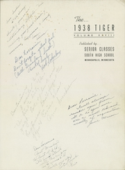 Page 5, 1938 Edition, South High School - Tiger Yearbook (Minneapolis, MN) online yearbook collection